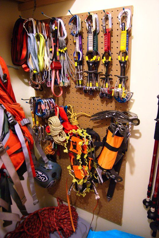 Need more climbing gear and digging this set up for storage.