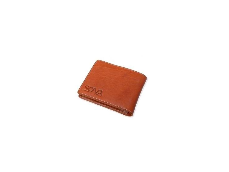 SOVA Pánská kožená peněženka TRE, pro leváky, Cognac