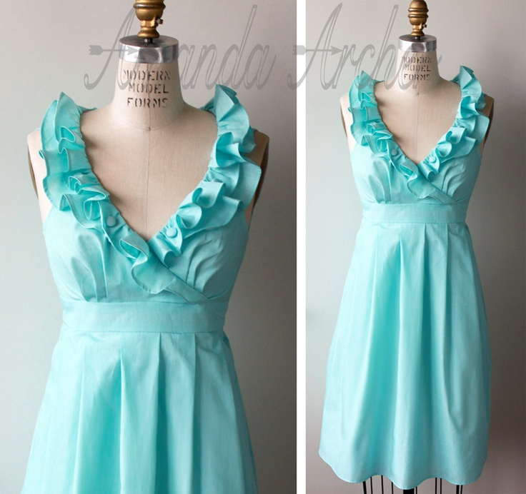 Aqua Bridesmaid Dress but different style options?