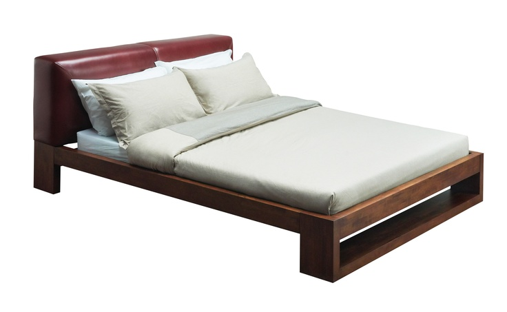 FELTON BED - Thick beams of solid wood run down the sides of this fuss-free and sturdy bed frame for a masculine feel; Color available: Cocoa; Dimensions: W173 x L227 x H85 cm; PRICE: King size-67900/-, Queen Size-55900/-  Buy now: http://tfrhome.com/landing/productlandingpage.php?product_code=bd-01