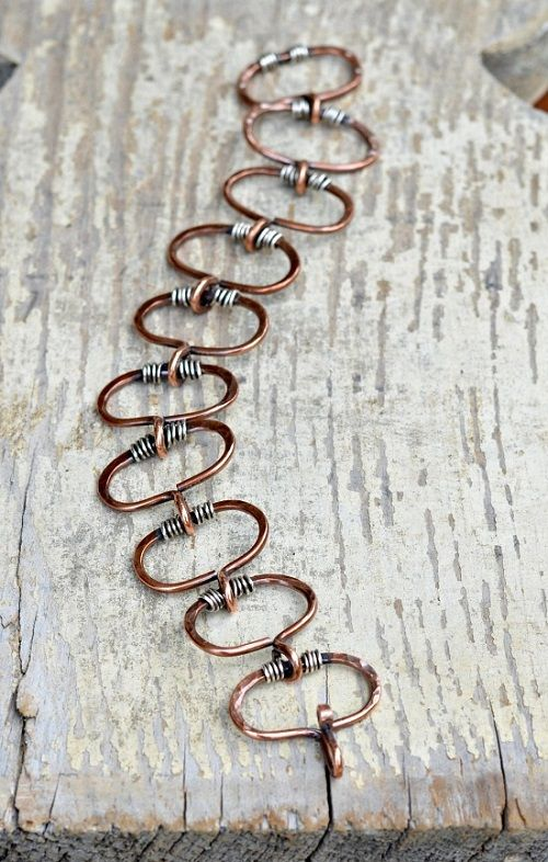 Make Linking Wire Components to Make a Chain Bracelet