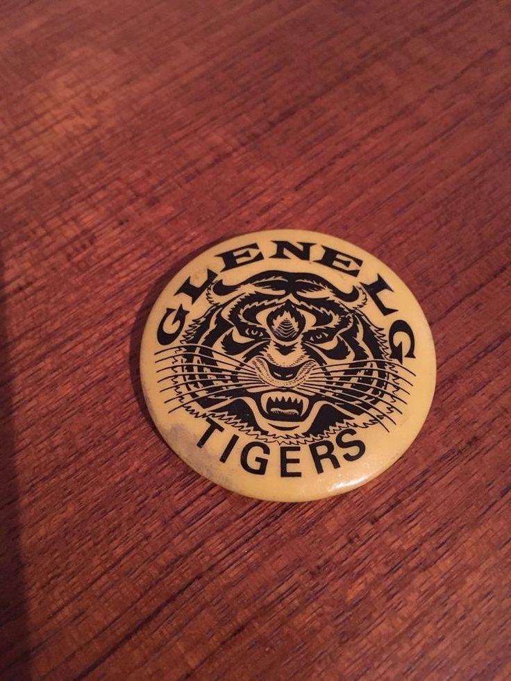 Glenelg Tigers Football Club badge Pin 1970's SANFL in Sporting Goods, AFL, Australian Rules, Memorabilia | eBay!