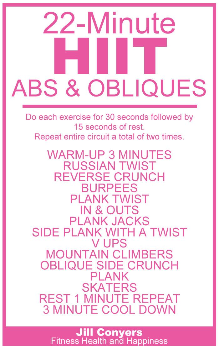 HIIT Abs & Obliques Workout