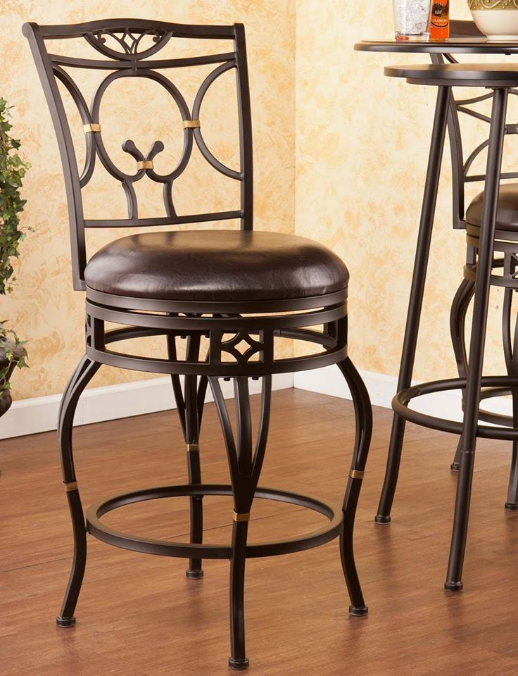 Wayfield Swivel Counter Stool Chair by SEI