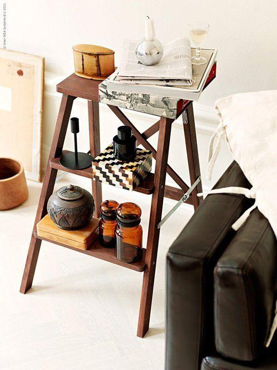 Nos encanta la idea de dar a los objetos que tenemos en casa un uso diferente al habitual. En Apartment Therapy nos proponen 13 buenas ideas para dar una nueva vida a cualquier escalera que tengamos en casa.