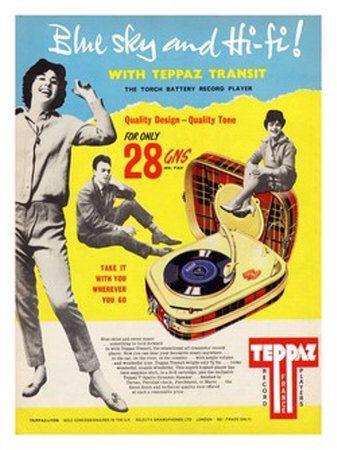 Vintage Ads Teppaz Record Player Masterprint Unique