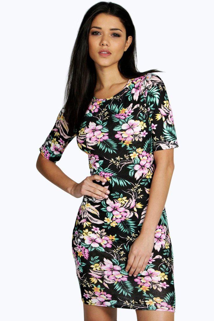Nežné Voľnočasové Kvetinové Šaty S Krátkym Rukávom