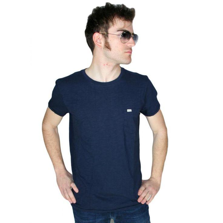 EMERSON Ανδρική κοντομάνικη φλάμα μπλούζα MT1674