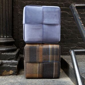 Lucy Tupu_Flax Cubes_Lavender Blue and Tartan