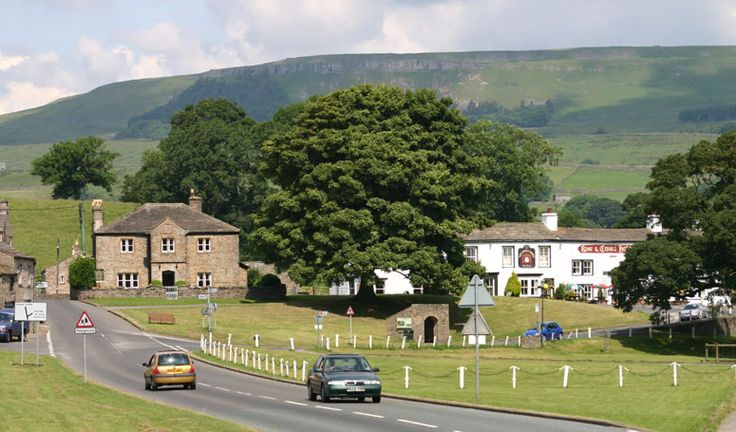 The village of Bainbridge         in Wensleydale in the old North Riding of Yorkshire.     Photograph by David         Simpson.
