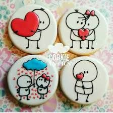 Resultado de imagen para galletas decoradas con glase paso a paso san valentin