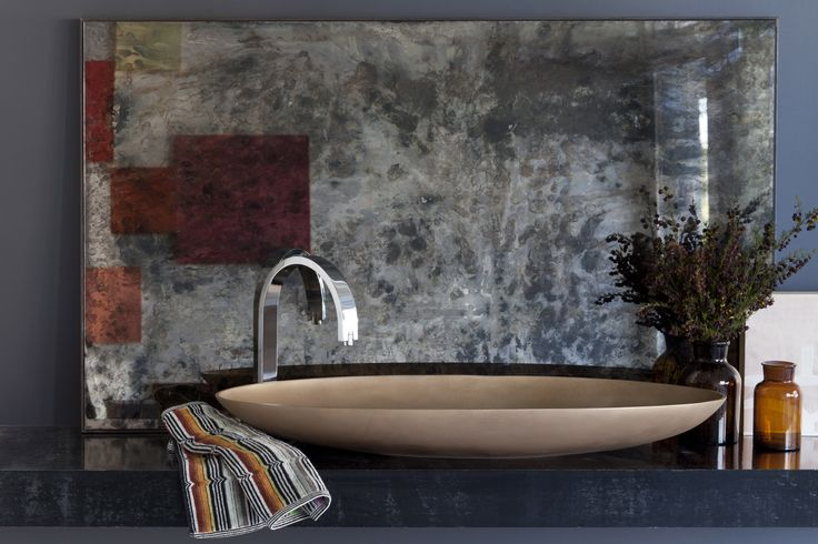 Oval Bronze basin