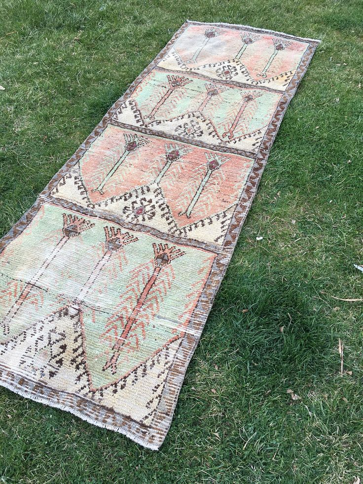 "Rustic Decor Primitive Anatolia Turkish Rug,Vintage Fashion Low Pile Hallway Runner Rug,Sof Pastel Colors Shabby Chic Kitchen Rug 3'x8'6"" by THEOUSHAKSHOP on Etsy https://www.etsy.com/listing/510268140/rustic-decor-primitive-anatolia-turkish"