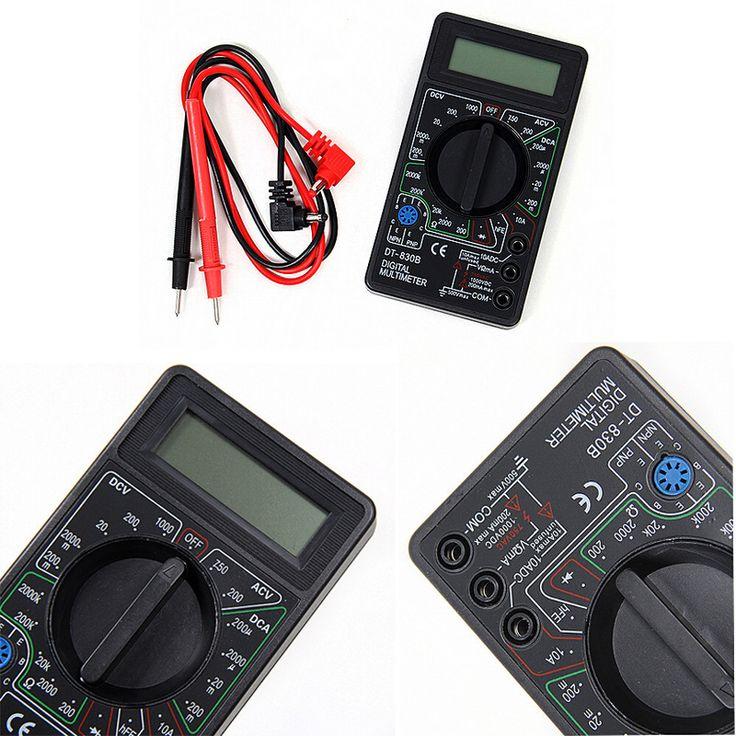 1pcs DT830B AC/DC Ammeter Voltmeter Ohm Electrical Tester Meter Professional Digital mini Multimeter pocket