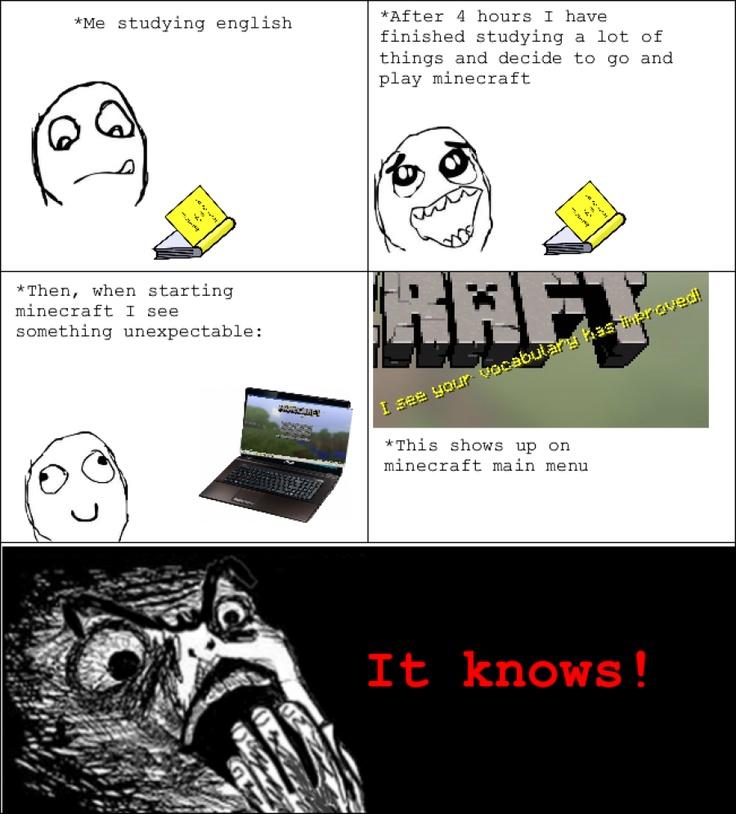 Funny Meme Comic Jokes : I am being watched my inner geek pinterest rage