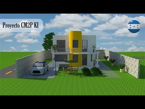 Diseños y Planos de Casas 2 pisos minimalista: Proyecto CM2P K1 Recursos de Arquitectura - YouTube