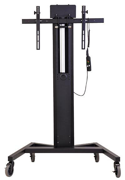 Mobile Tower AV Cart with Power Lift for Single XL Monitor