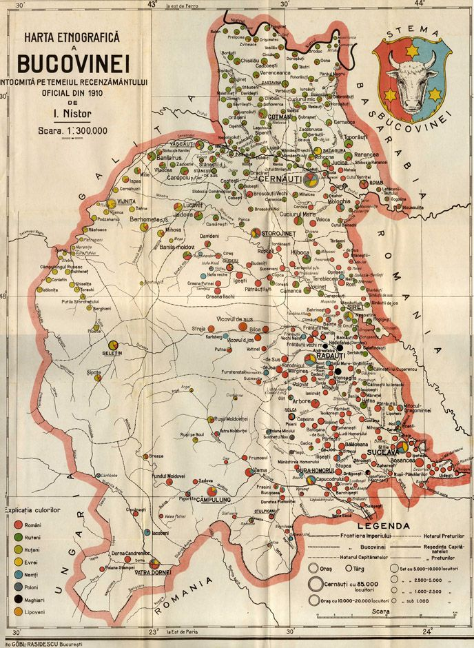 The Map of Bucovina at 1910 | Map, History, Vintage world maps