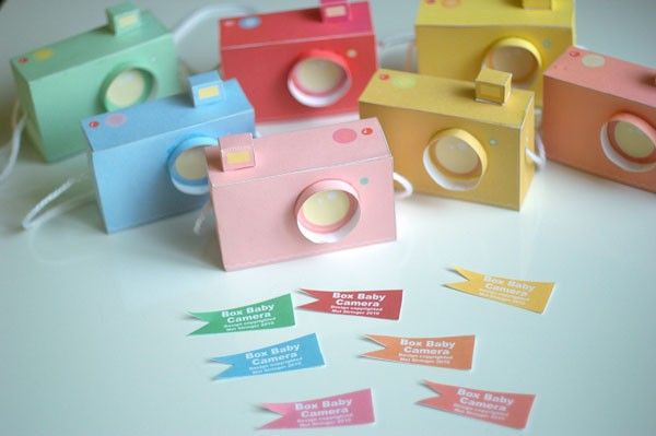 Printable SPECIAL - - 7 Box Baby CAMERAS, pastel colours - Printable Paper Craft PDF file (includes all 7 colours)  $4.00 AUD  94 available  Approximately $4.26 USD