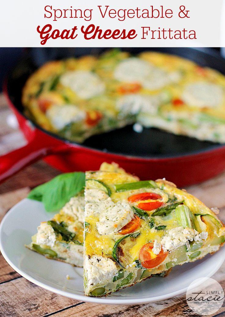 Spring Vegetable & Goat Cheese Frittata | Gardens ...