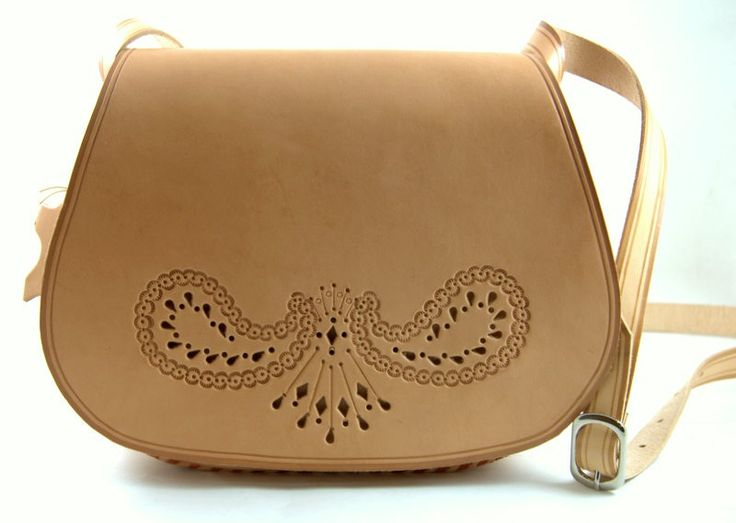 Hand made leather bag from Podhale - southern region of Poland