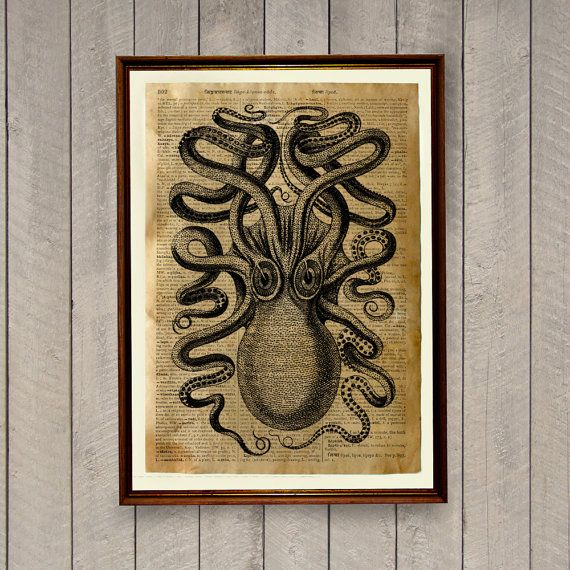 octopus poster for the living room?