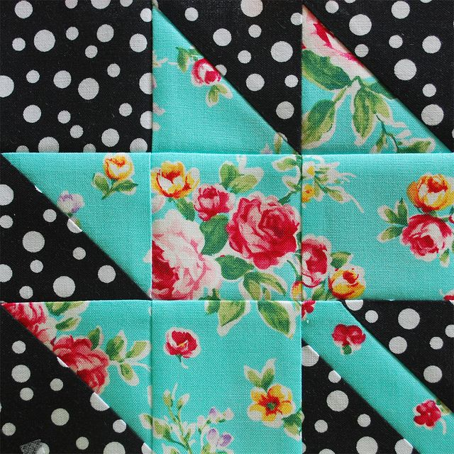 FW Block 56 - Maple Leaf by HopeTN, via Flickr--love the colors