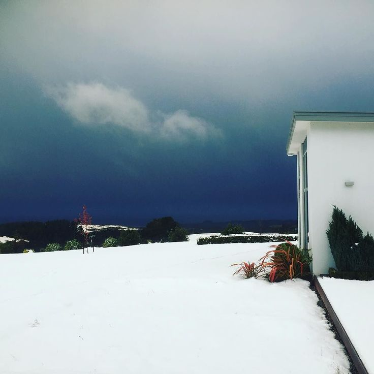 That's a dark sky and it brought more snow #weather #clutha #otago #calmlittlefarm