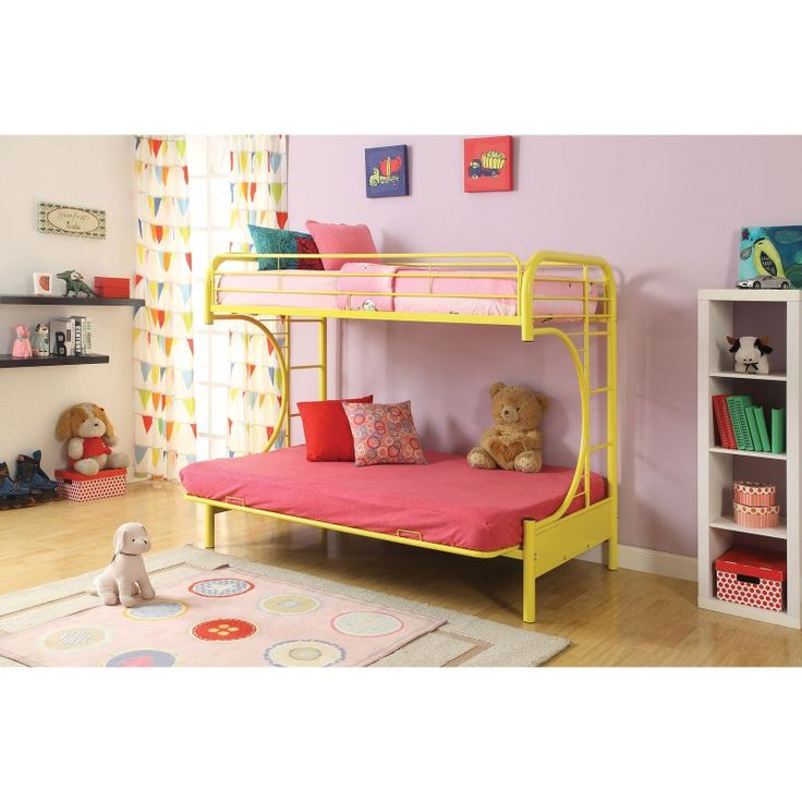 Acme Furniture Eclipse Twin over Full Futon Bunk Bed - 02091W-BK