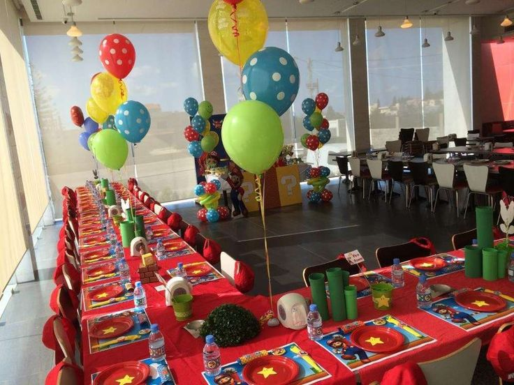 Super Mario Bros Birthday Party Ideas | Photo 1 of 18 | Catch My Party