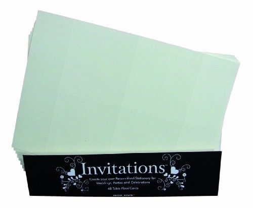 Paper State Invitations Place Cards - Champagne (Pack of 48)