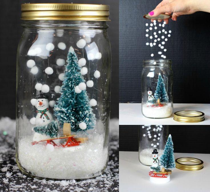 die besten 25 schneekugel basteln ideen auf pinterest schneekugel weihnachten weihnachten. Black Bedroom Furniture Sets. Home Design Ideas