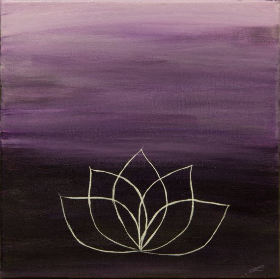 The Lotus 12x12 Original Lotus Flower on Canvas by MarketingColor, $35.00