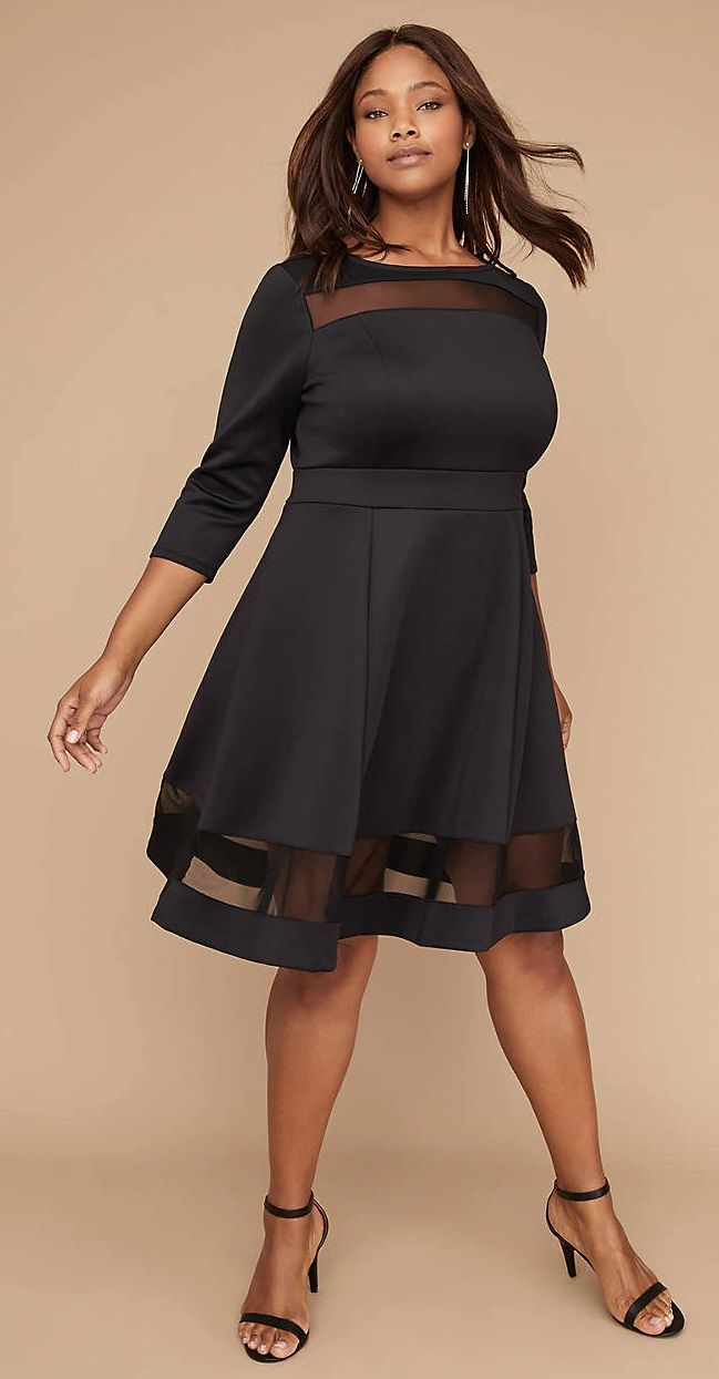 aeec71c4eeb Plus Size Mesh Dress - Plus Size Fashion for Women  plussize