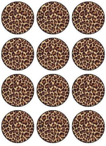 12 custom personalised leopard print design edible icing for Animal print edible cake decoration