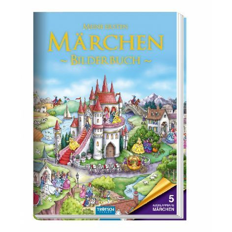 Märchenbuch Bilderbuch Kinder - Aschenputtel, Rapunzel, Dornröschen, Rotkäppchen kaufen bei Hood.de - Ausstattung Hardcover Seiten 10