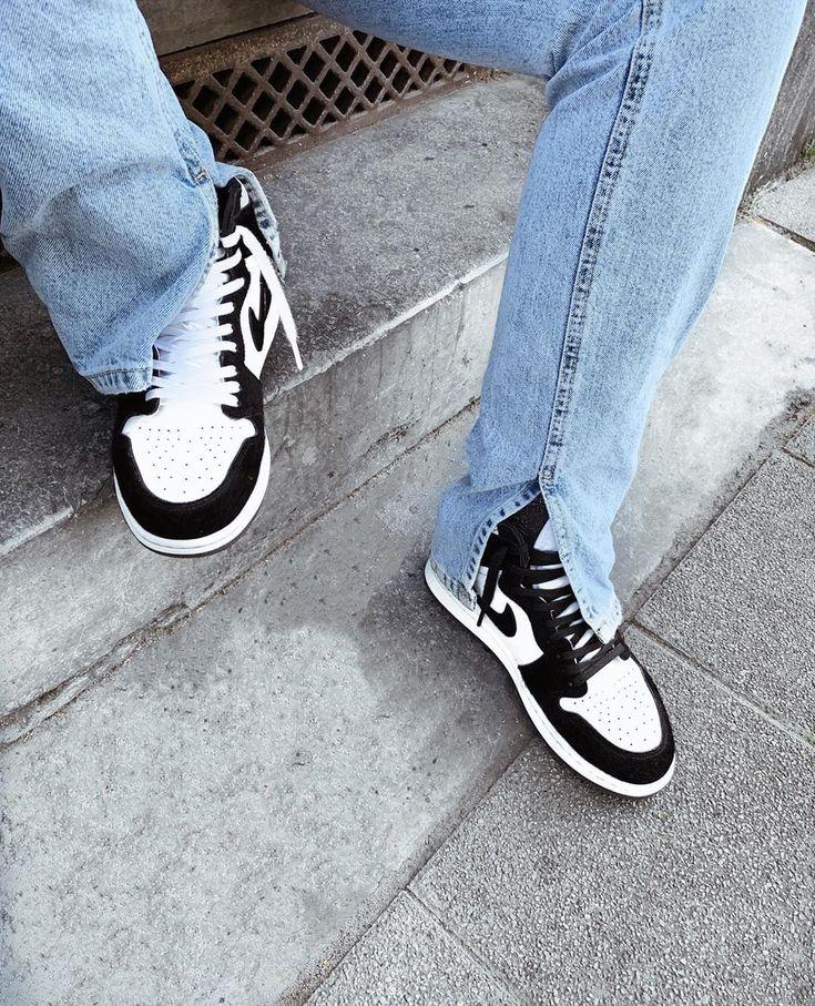 Air Jordan 1 Retro High OG Panda Twist Sneakers fashion