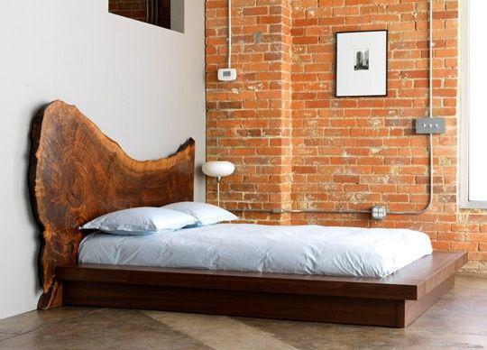 Cabezal de cama muy rústico