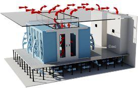 Computerruimte koelsystemen. Een computerruimte functioneert 24/7 en vormt de spil binnen ieder bedrijf. De ruimtelijke temperatuur in computerruimtes dient tussen bepaalde waarden te blijven om statische elektriciteit door een te hoge luchtvochtigheidsgraad te voorkomen. Ook is het van groot belang dat de luchtcirculatie juist gecirculeerd en gerouteerd wordt. Een computair biedt uitkomst. Een computair is een specifiek voor computerruimtes ontworpen airco.
