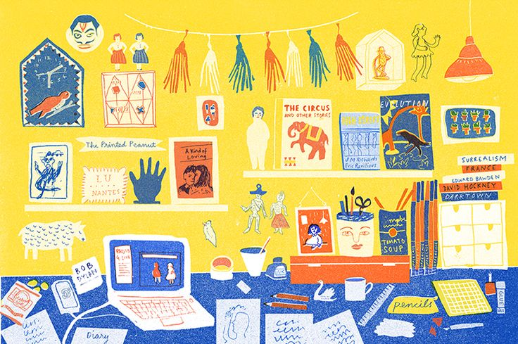 The workspace of Louise Lockhart #workspace #illustration http://www.sirmagazine.be/art/the-workspace-of-louise-lockhart/
