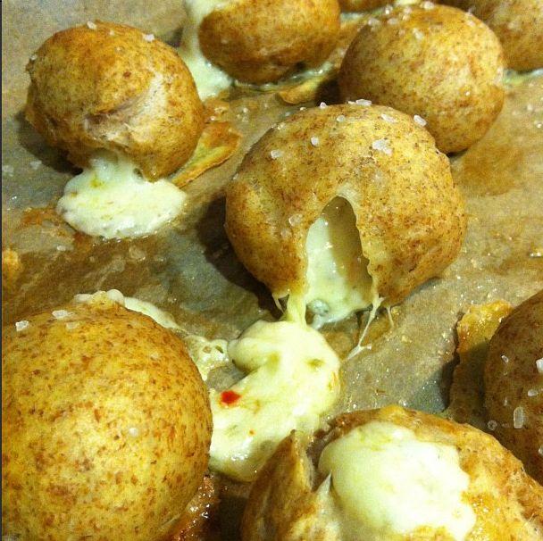 Wow! Pepper Jack Stuffed Pretzel Bites via What's Gaby Cooking