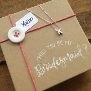 A fun and creative way to ask the bridesmaids.