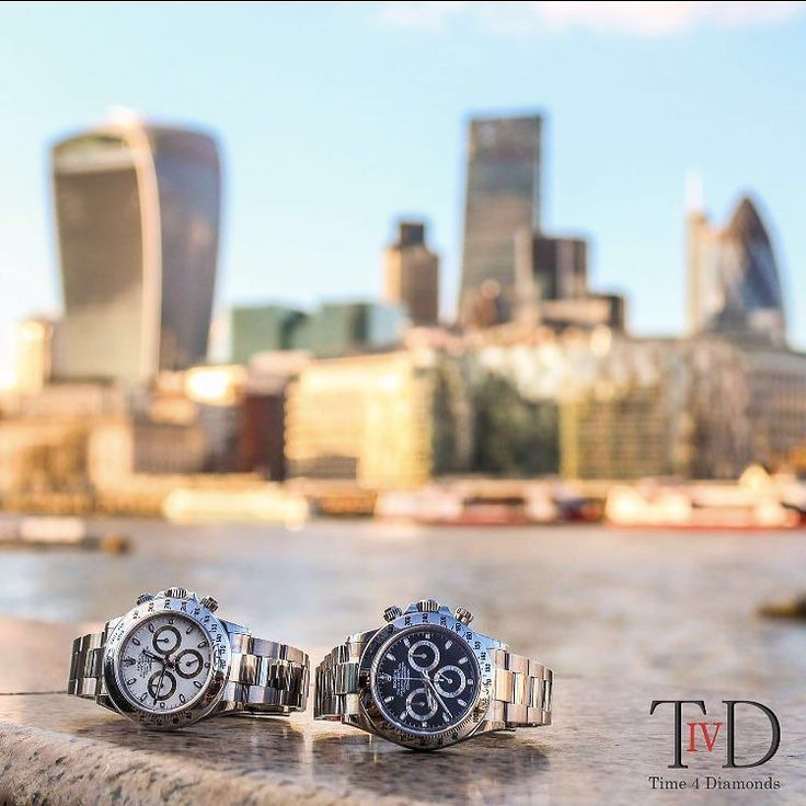 Daytona city  Love this shot of the beautiful sunset overlooking these pair of Rolex Daytona's with the city in the background.  Rolex Daytona 116520 available in stock today unused with box and papers. No 5 year waiting list here . Call DM or email for price enquiries:  44 (0)74 9600 5467  sales@time4diamonds.com  #rolex #daytona #116520 #time4diamonds #london #watch #watches #watchesofinstagram #watchesforsale #watchfam #watchoftheday #watchporn #watchmania #swisswatches #baselworld2016…