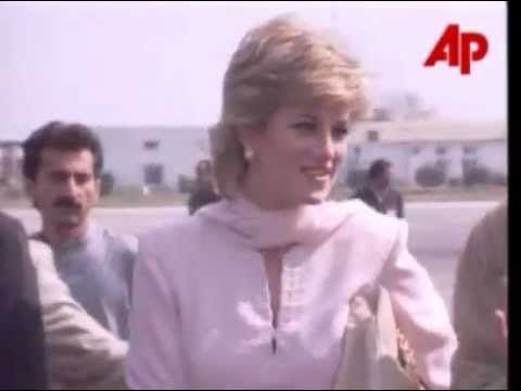 Princess Diana Arrives in Pakistan 1996 - YouTube