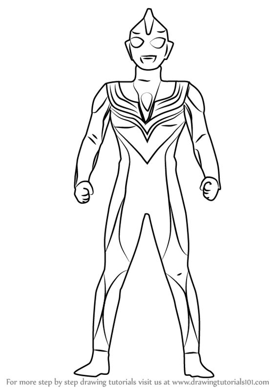 Learn How To Draw Ultraman Tiga Ultraman Step By Step Drawing Tutorials In 2021 Coloring For Kids Coloring Pages To Print Ultraman Tiga
