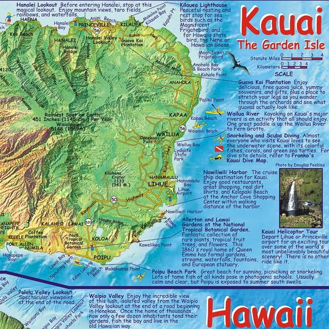 hawaiian islands chain guide map 2pedal mountain bike maps and guide books