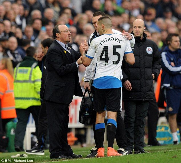 Rafa Benitez thinks Aleksandar Mitrovic can help fire Newcastle to safety but could not allow knocked-out goalscorer to continue