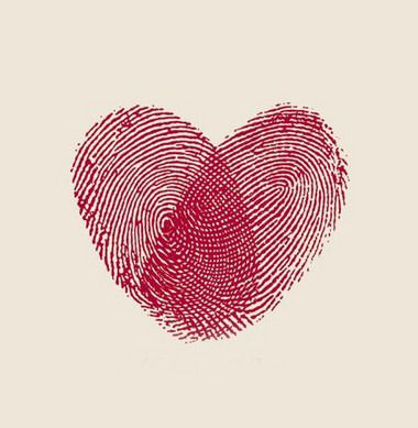 Fingerprint heart, fun idea for the back of your handmade tags. OMG