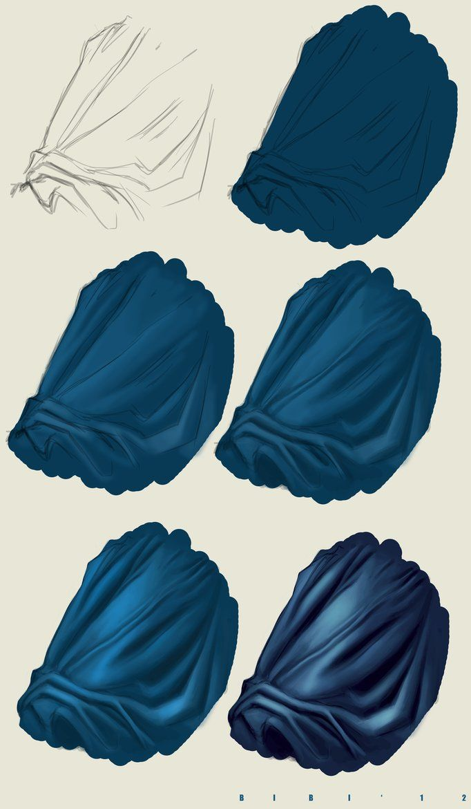 ▄ http://www.pinterest.com/micrerofurioso/study-of-illustration/ Tutorial Photoshop n5 DRAPERY by ~ElyBibi on deviantART
