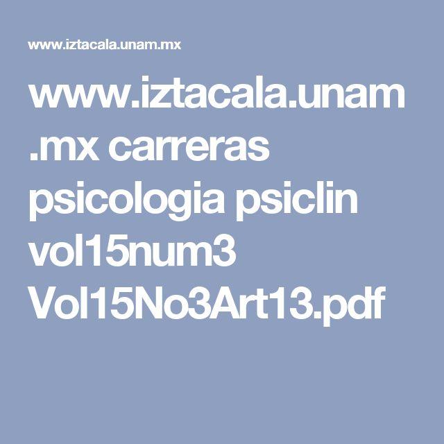 www.iztacala.unam.mx carreras psicologia psiclin vol15num3 Vol15No3Art13.pdf
